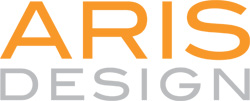 ARIS DESIGN orange logo