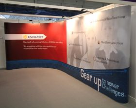 EXCELSOFT exhibition popup display - Aris Design