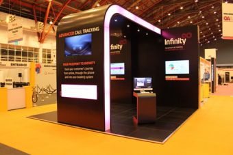 INFINITY EXHIBITION STAND :: Exhibition Stand. Aris Exhibition Stand Designers - exhibition design, exhibition designer, exhibition stand design, exhibition stand designers, exhibition contractor, exhibition contractors, London. United Kingdom