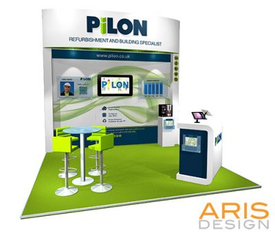 Pilon stand renders by arisdesign.co.uk