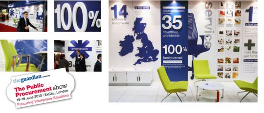 Kinnarps :: Exhibition Stand. Aris Exhibition Stand Designers - exhibition design, exhibition designer, exhibition stand design, exhibition stand designers, exhibition contractor, exhibition contractors, London. United Kingdom